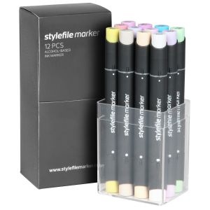 Stylefile Marker 12 pcs set Pastel