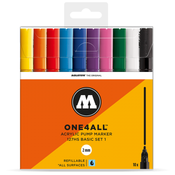 MOLOTOW ONE4ALL 127HS Basic-Set 1 - 10kpl