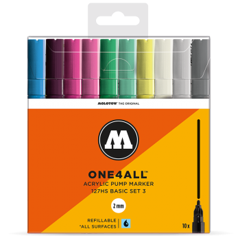 MOLOTOW ONE4ALL 127HS Basic-Set 3 - 10kpl