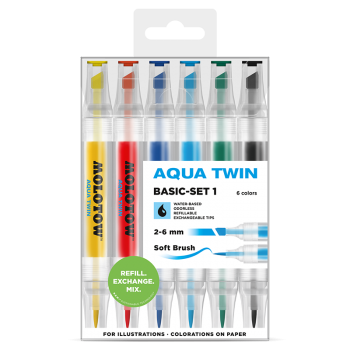 MOLOTOW AQUA TWIN Basic-Set 1