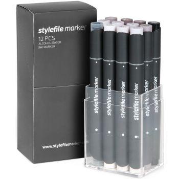 Stylefile Marker 12 pcs set Warm Grey