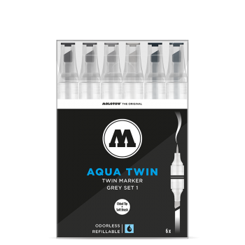 MOLOTOW AQUA TWIN Grey-Set 1