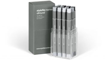 Stylefile Marker Allround 12 pcs set neutral grey