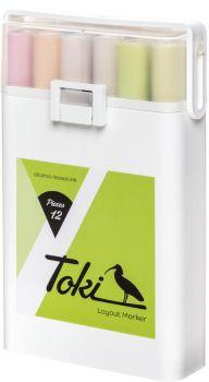 Toki 12er marker pastel set