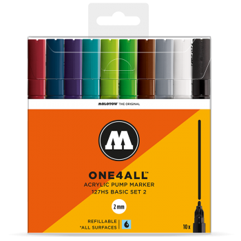 MOLOTOW ONE4ALL 127HS Basic-Set 2 - 10kpl