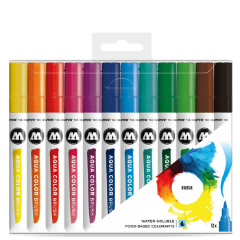 Molotow AQUA COLOR Brush Basic Set 1 (12kpl)