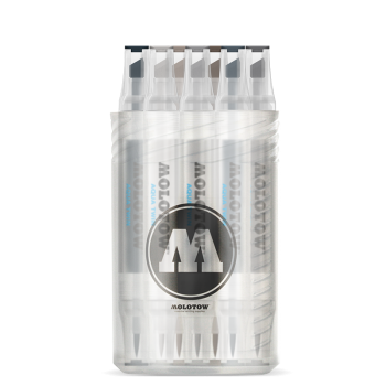 MOLOTOW AQUA TWIN Complete Set Grey