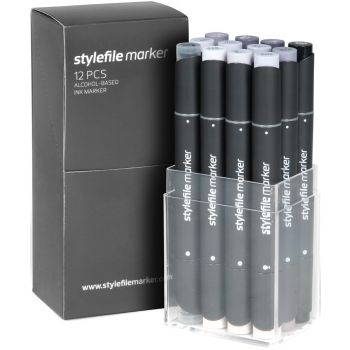 Stylefile Marker 12 pcs set Cool Grey