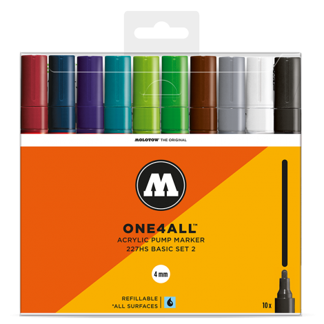 MOLOTOW™ ONE4ALL 227HS Basic-Set 2  (10kpl)