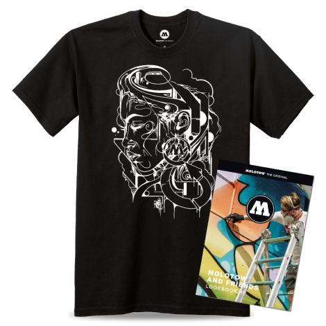MOLOTOW AND FRIENDS T-SHIRT MR CENZ