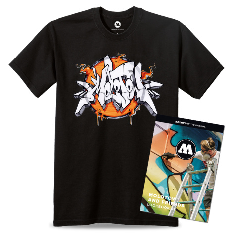 MOLOTOW AND FRIENDS T-SHIRT GESER