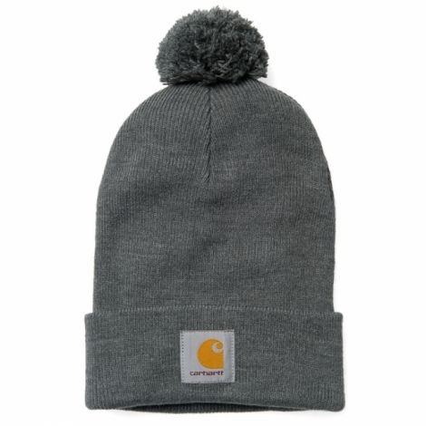 Carhartt Bobble watch hat dark grey heather