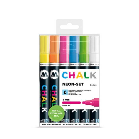 MOLOTOW Chalk Marker 4mm Neon Set