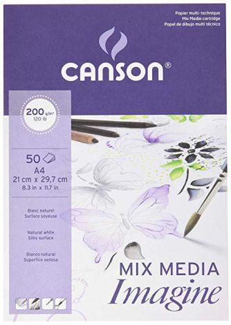 Canson Imagine sekatekniikkalehtiö A4 200g