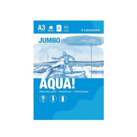 Figura AQUA akvarellilehtiö A3 jumbo - 50 sivua