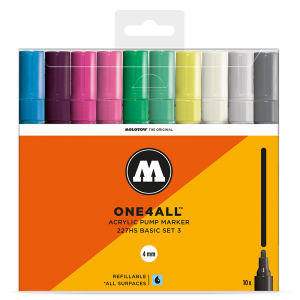 MOLOTOW™ ONE4ALL 227HS Basic-Set 3 (10kpl)