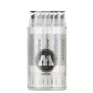 MOLOTOW AQUA TWIN Complete Set Grey