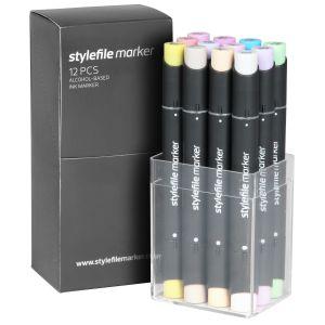 Stylefile Marker 12 pcs set Pastel