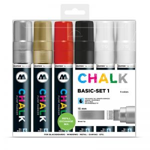 MOLOTOW Chalk Marker 15mm Basic Set 1