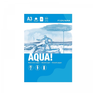 Figura AQUA akvarellilehtiö A3 - 12 arkkia