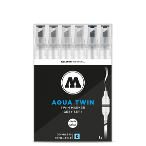 MOLOTOW AQUA TWIN Grey-Set 1