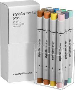 Stylefile Marker Brush 12er Set multi 14