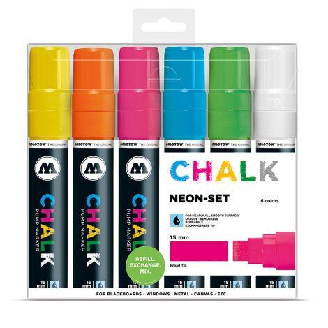 MOLOTOW Chalk Marker 15mm Neon Set
