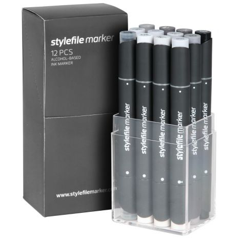 Stylefile Marker 12 pcs set Neutral Grey