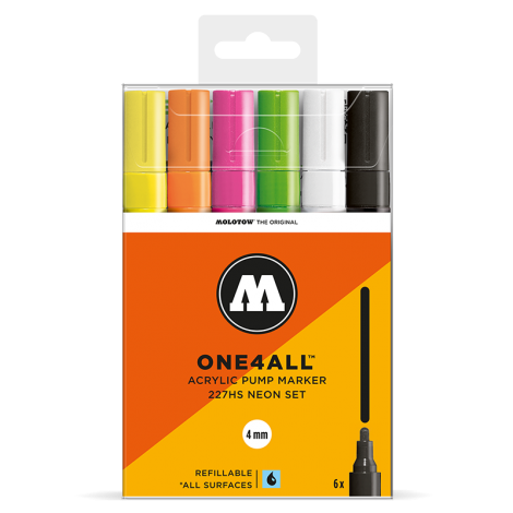 MOLOTOW ONE4ALL 227HS Neon-Set