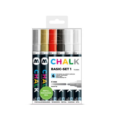 MOLOTOW Chalk Marker 4mm Basic Set 1