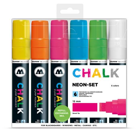 MOLOTOW Chalk Marker 15mm Neon Set