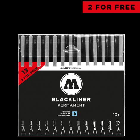 Molotow  BLACKLINER COMPLETE SET 13