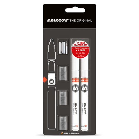 MOLOTOW Refill Extension 111EM Starter Kit