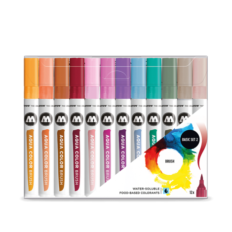 Molotow AQUA COLOR Brush Basic Set 2 (12kpl)