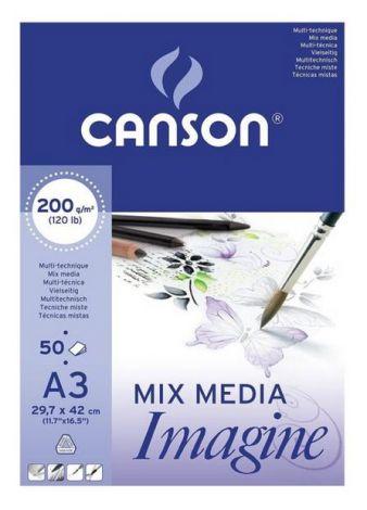 Canson Imagine sekatekniikkalehtiö A3 200g