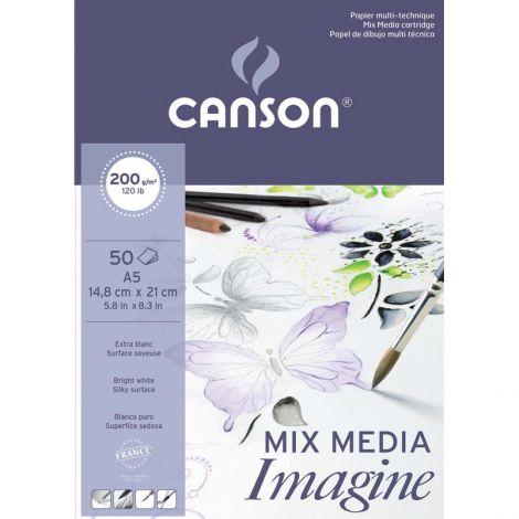 Canson Imagine sekatekniikkalehtiö A5 200g