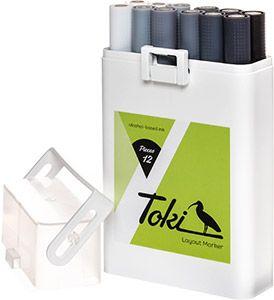 Toki 12er marker set Grey