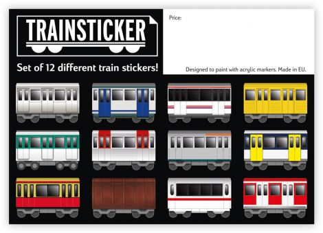 Underpressure Train Set A4 12 pcs sticker